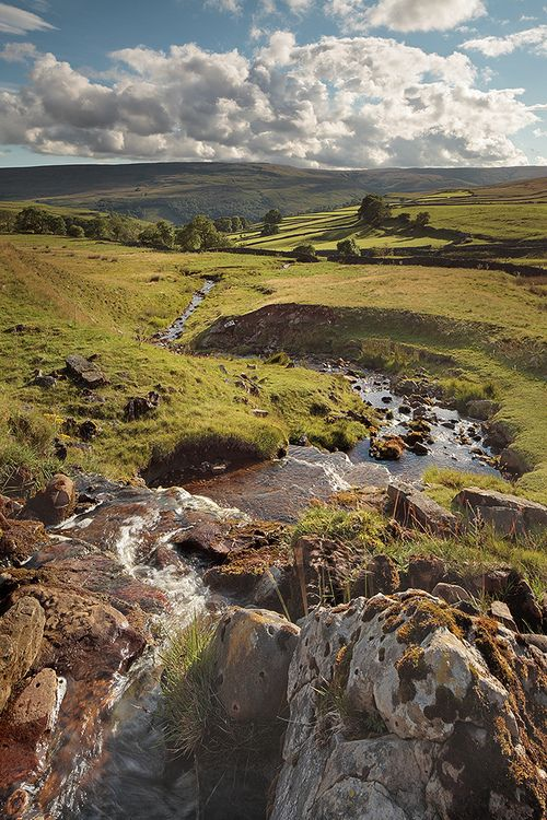 Beautiful English countryside in Cray, Yorkshire Dales, England by rgarrigus