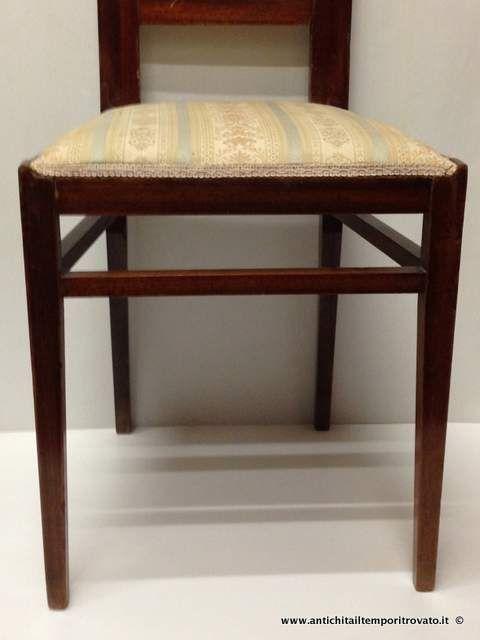 Mobili antichi - Sedie - Set 4 sedie deco in mogano Lotto sedie anni 30 in mogano - Immagine n°3