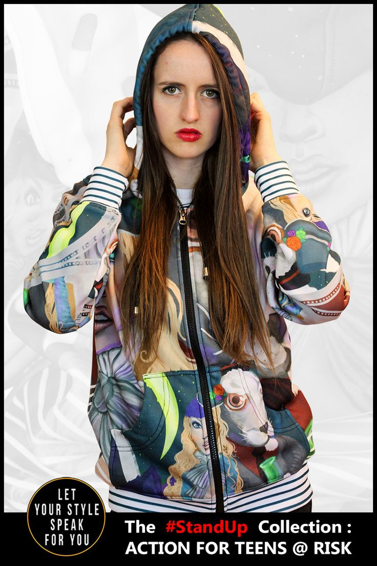 This Alice in Wonderland inspired hoodie is made from 100% Polyester Quality YKK zipper Adjustable drawstring hood Standard Fit Machine Washable Design