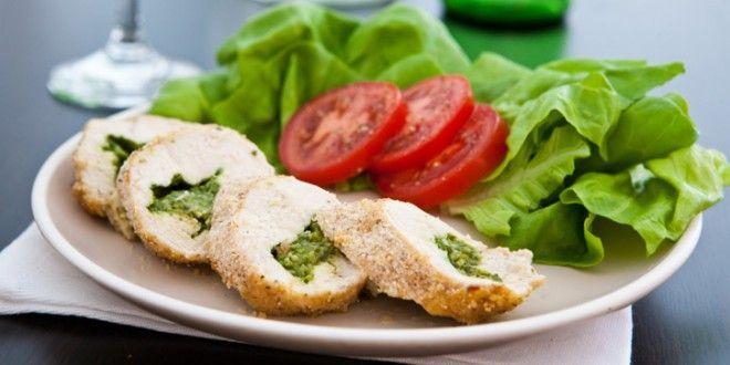 Mozzarella-Pesto Stuffed Chicken Breasts | Inspired Dreamer
