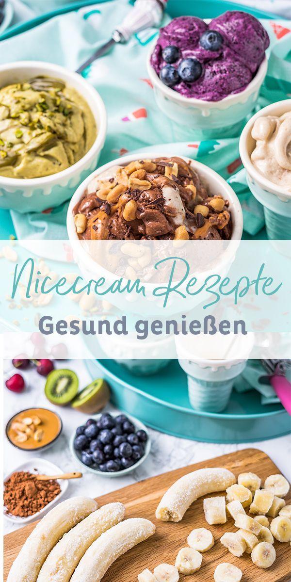 Nicecream Recipes | Vegan and healthy alternative to ice cream: Nicecream is g …  – Eis Rezepte für Familien mit Kindern
