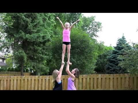 Really cool cheer stunts for beginners 2 - YouTube