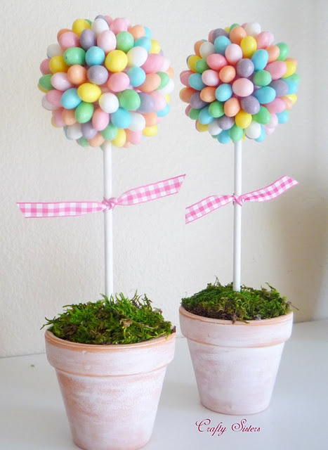 JELLY BEAN TOPIARY....So cute !    This seriously made me want jelly beans.