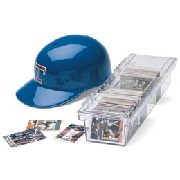 Baseball Card Case & Sleeves Protect your valuable baseball and other collectible cards with our Baseball Card Case. Each holds up to 800 cards. A perfect gift idea for avid collectors of any type of cards. I'm thinking as a case for my Apples to Apples game since the box has been pretty much destroyed!