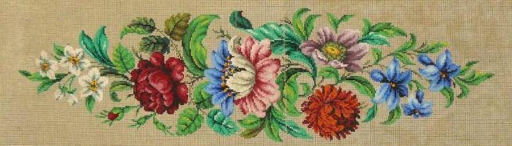Berlin WoolWork Floral Pattern