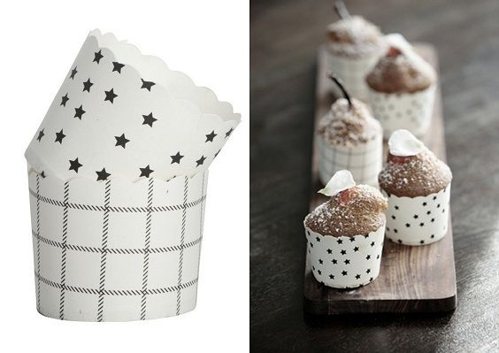 Uh-Uh! Love them! black and white muffin papers from Tierlantijn - Nicolas Vahe Vormpjes Muffin Forms