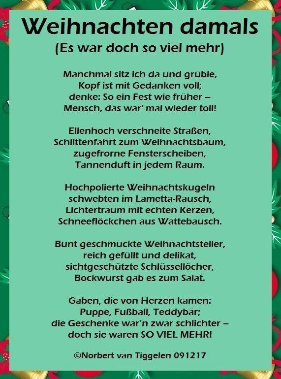 Pin von Marga Whigham auf Weihnachtszeit | Gedicht