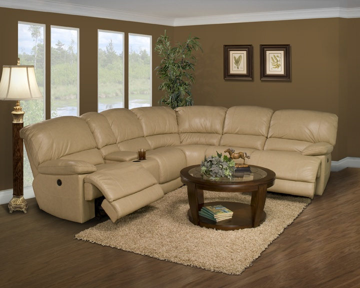 Parker Living Motion Mars 6 Pc Leather Reclining Sectional Sofa. Wondering  About A Light Color