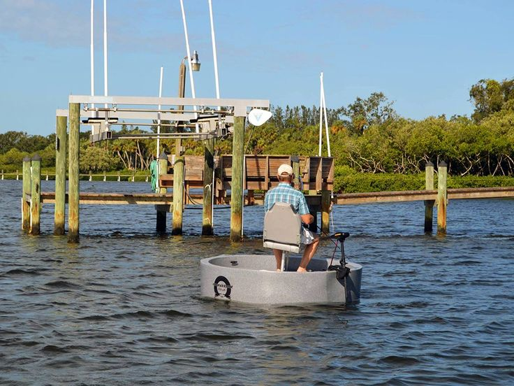 18 best plastic boats images on pinterest boats boat for Round fishing boat