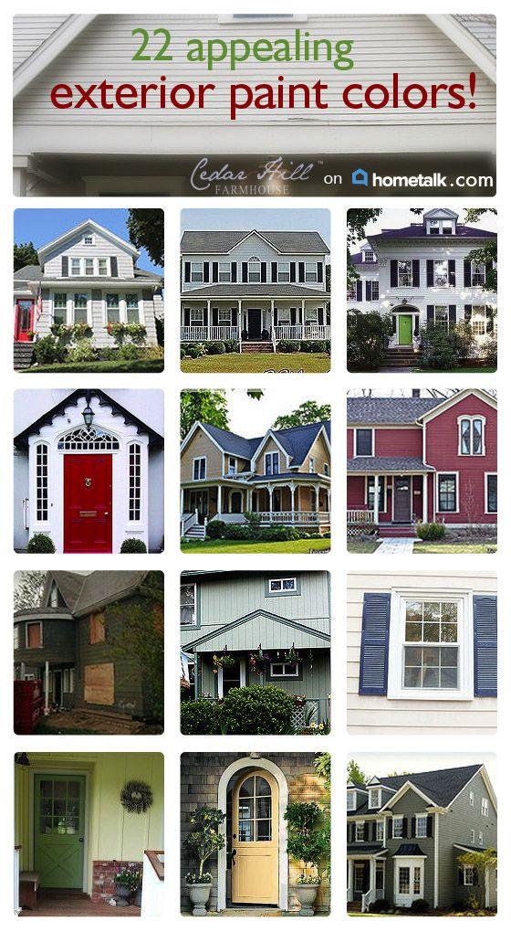 Exterior House Paint Colors Idea Box By Anita @ Cedar Hill Farmhouse