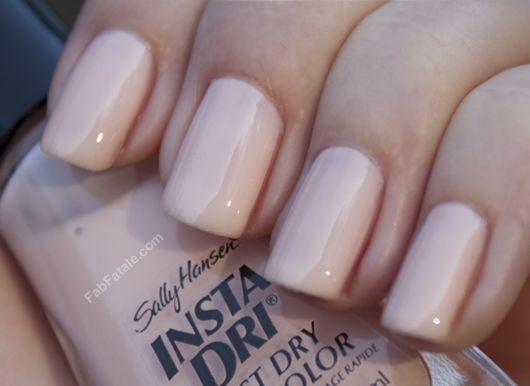 Sally Hansen Instant Dry Petal Pusher Light Pink Creme Nail Polish