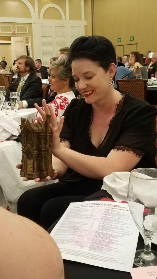 Congrats to Mercedes M. Yardley, who won a Bram Stoker award for her LITTLE DEAD RED book. She won the Superior Achievement in Long Fiction award.