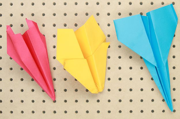 These origami planes put regular folded paper ones to shame! Learn how to make them below. | Upgrade Your Paper Airplane Game With These Clever Techniques