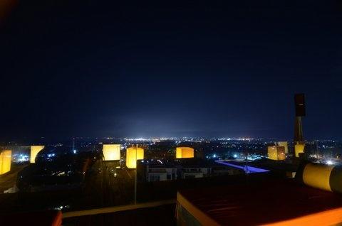Brite lights evening from Villa 's rooftop. www.tigadisvilla.com
