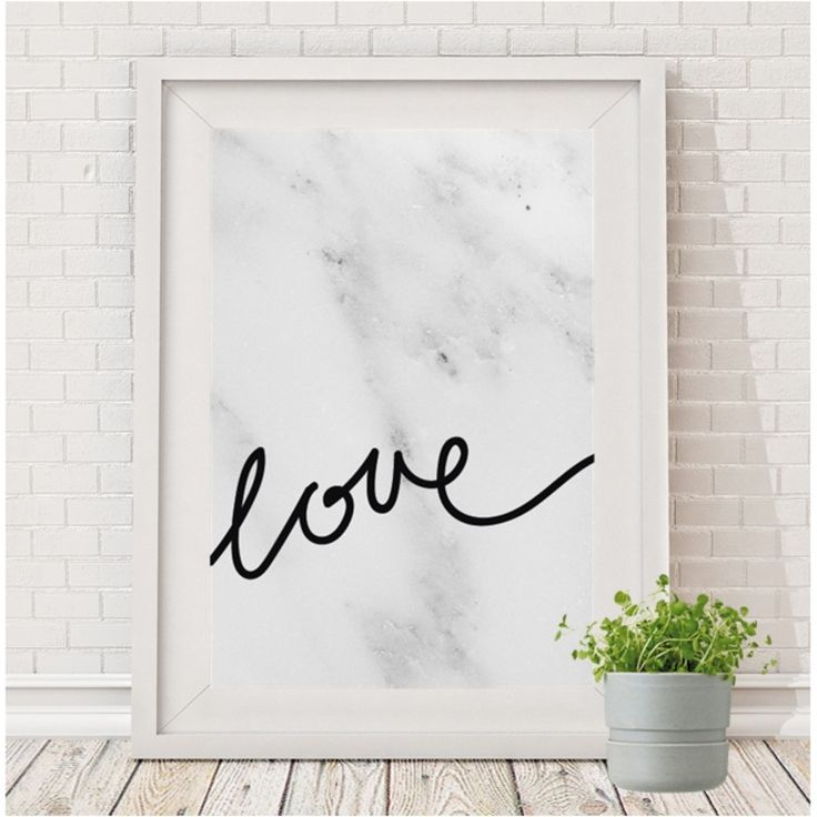 Love print (white or marble) | hardtofind.