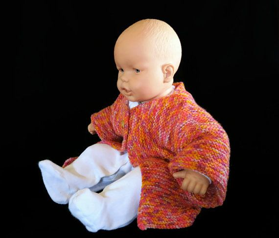 Knitted Baby Jumper Baby Clothes Orange Woollen by NchantedGifts