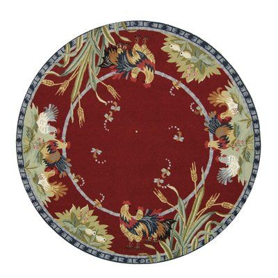 """August Grove Isabella Country Novelty Rug Rug Size: Round 5'6"""""""