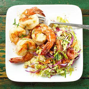 Shrimp with Warm Coleslawtu