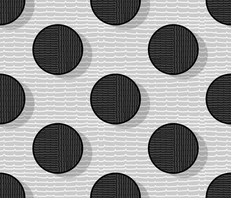 pois in black fabric by chicca_besso on Spoonflower - custom fabric