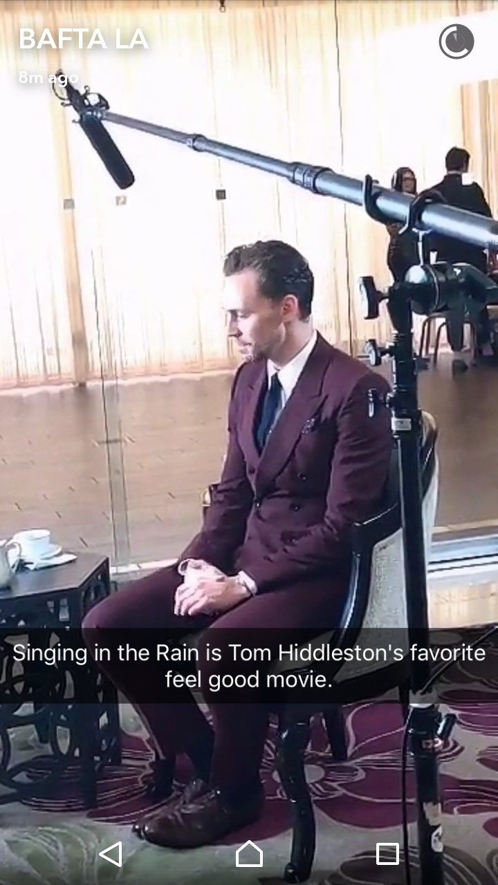 Tom Hiddleston. #BAFTATea January 7, 2017. Via Twitter.
