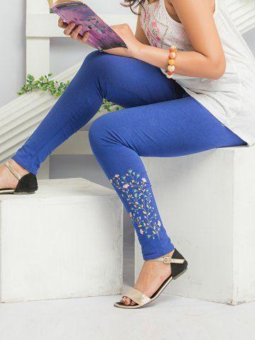 fb555d698472a9 Psyna Blue Leggings - | 425 | Leggings & Jeggings | Blue leggings ...