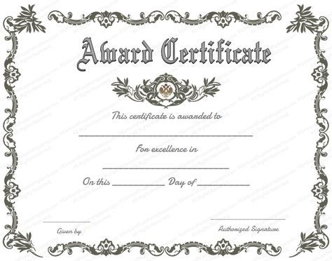 free printable certificate of recognition - Google Search