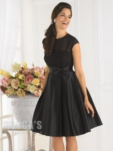 black, mesh, & bows with full skirt