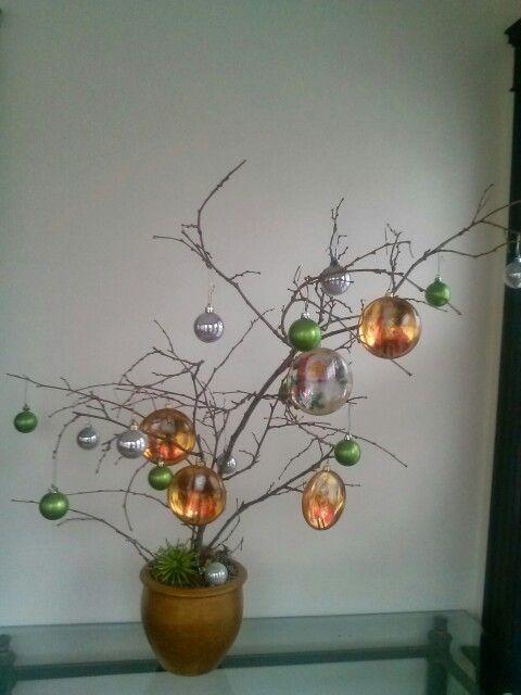 Decoracion con ramas seca # navidad.