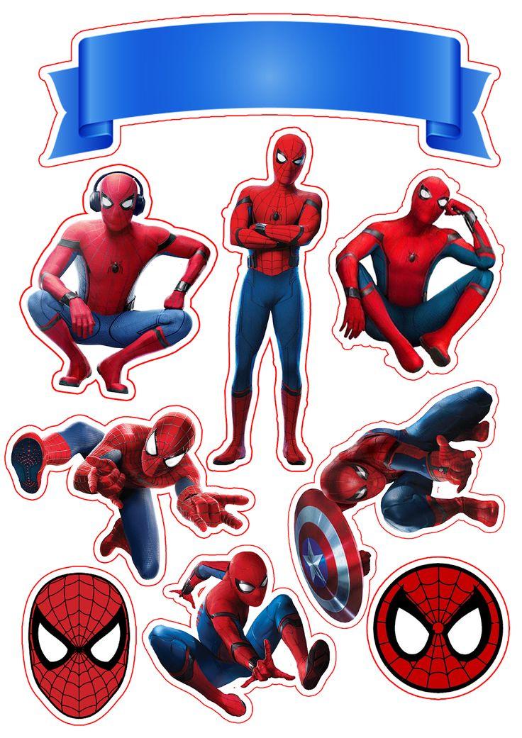 Spiderman Movie Free Printable Cake Toppers. Spiderman