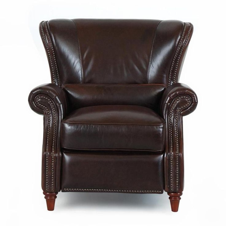 P378 Cigar Leather Pushback Recliner By Futura Leather