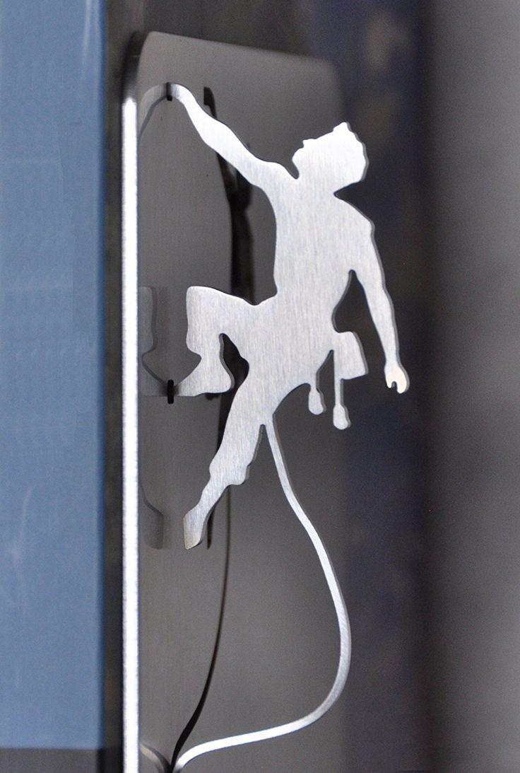 INOX-DESIGN - coppia di #fermalibri #bookend #inox mod. climb #arrampicatasportiva #sportclimbing #silhouette