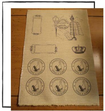 méthode transfert sans feuille particulière, directement sur le tissu
