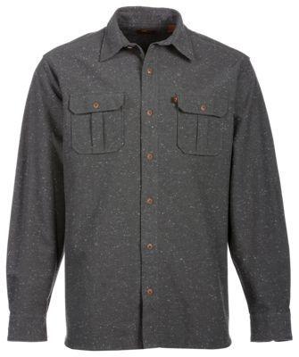 Bob Timberlake Nep Oxford Shirt for Men - Dark Gray - S