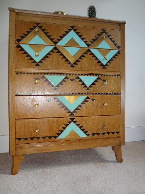 HOC Aztec Pattern Chest of Drawers