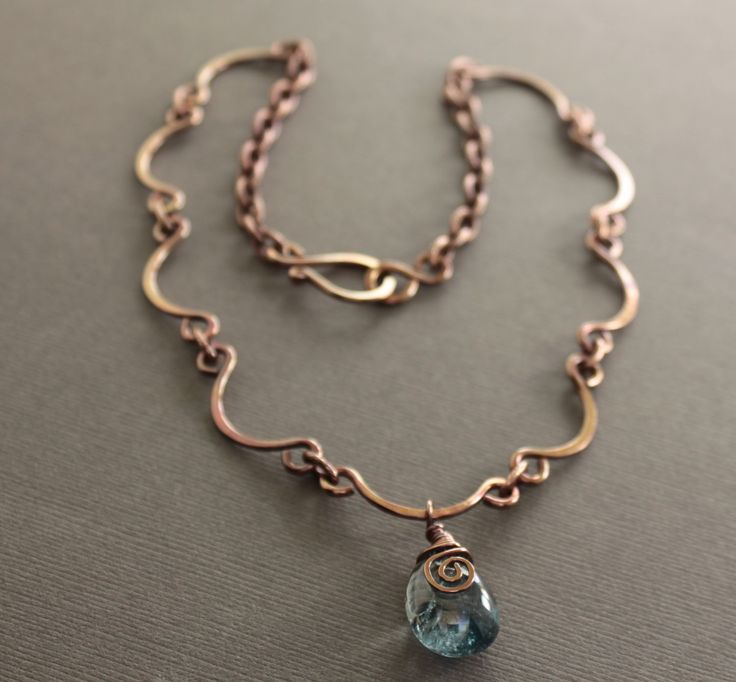 Scallop shape copper necklace