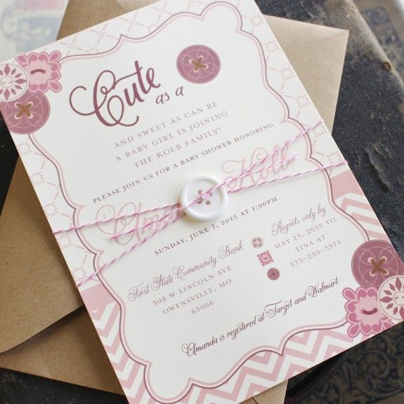 999 best serendipity beyond design blogs images on pinterest cute as a button baby shower invitation stopboris Image collections