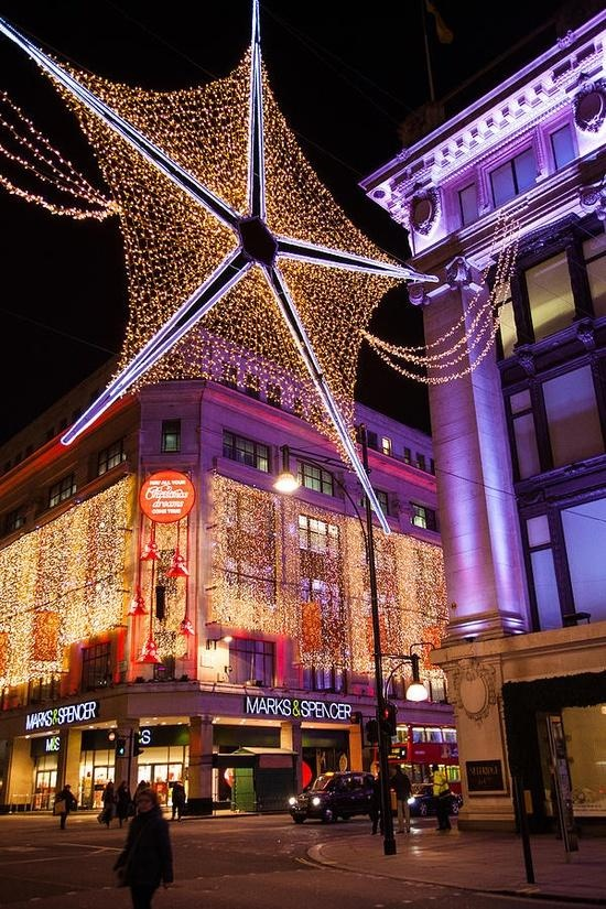 Marks & Spencers at Christmas in London