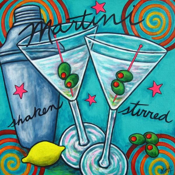 Retro Martini by Lisa  Lorenz - Retro Martini Painting - Retro Martini Fine Art Prints and Posters for Sale