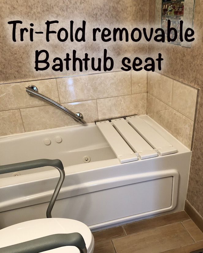 29 X 15 Tri Fold Removable Bathtub Seat End Hung Bathtub