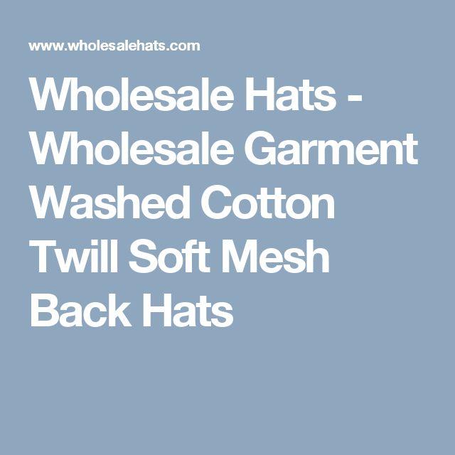 Wholesale Hats - Wholesale Garment Washed Cotton Twill Soft Mesh Back Hats