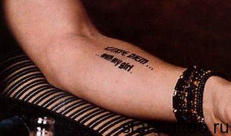 Colin Farrell Tattoos | татуировки на внутренней части руки