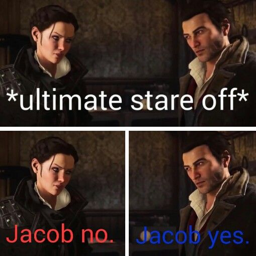 Basically the entire game ----and it's is amazing! <<< yes XD I love Jacob, he's so awesome