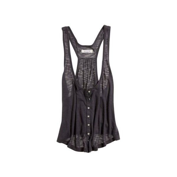 American Eagle Women's Aerie Cropped Racer Boy Tank Anthracite (€22) ❤ liked on Polyvore featuring tops, shirts, tank tops, tanks, clothing & accessories clothing underwear & socks undershirts, striped tank top, sexy shirts, racerback tank top, nautical striped shirt and loose racerback tank