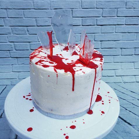 Blood Cake  #halloween #cake #Bloodcake