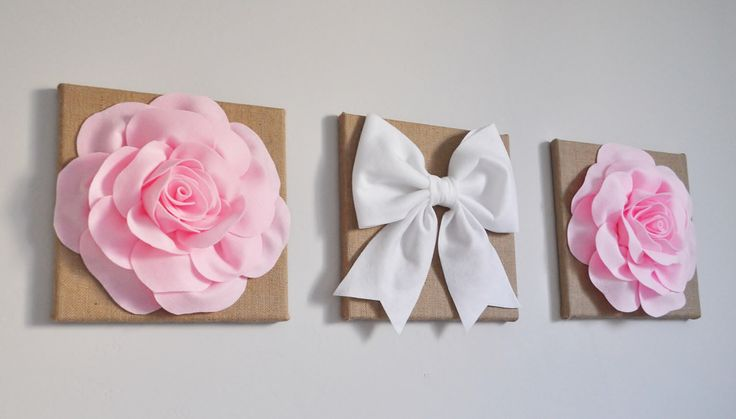 Baby girl nursery wall hangings, pink nursery banner, burlap nursery flowers, burlap nursery decor, rustic nursery decor, baby shower decor by bedbuggs on Etsy https://www.etsy.com/listing/475407759/baby-girl-nursery-wall-hangings-pink
