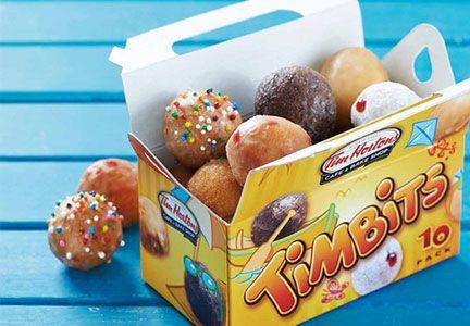 Timbits donut holes, Tim Hortons