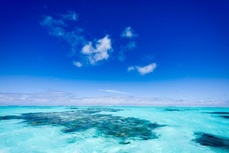 AitutakiApr - Aitutaki Lagoon, Cook Islands. Where blue was invented.
