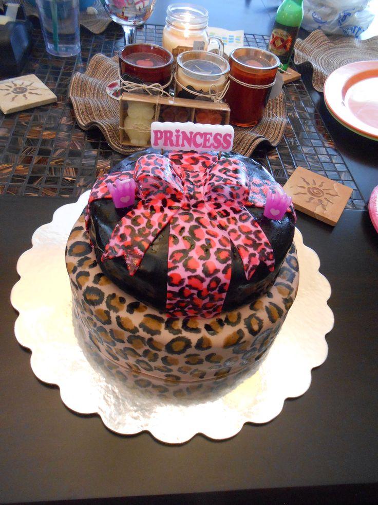 Cheetah pint birthday cake! Cake, Birthday cake, Desserts