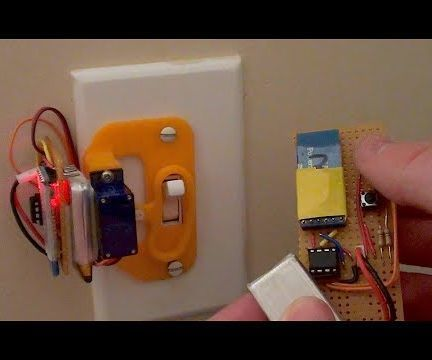 """Remote control bluetooth light switch.  This will be the first project in a series entitled: """"Optimised Laziness: Over Engineered Solutions to Remarkably Trivial Problems""""Ever been lying in bed..."""