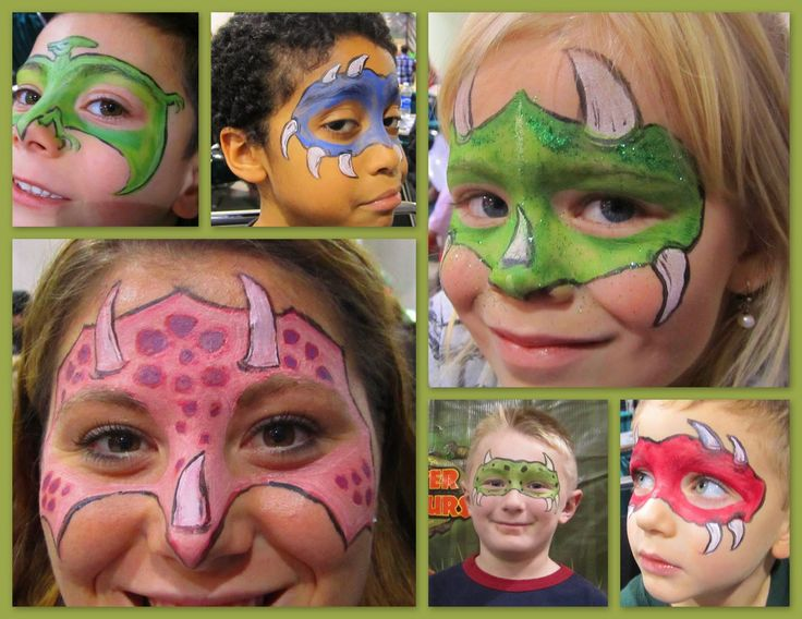 dinosaur face paint designs